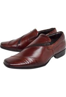 Sapato Social Couro Rafarillo Zíper Marrom