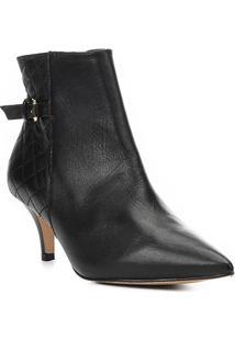 Bota Cano Curto Shoestock Kitten Heel Matelassê Feminina - Feminino