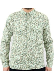 Camisa Andy Roll Floral Green Hornetts Verde Escuro