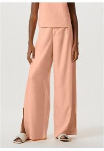 Calça Pantalona Viscose Sarjada Feminina - Feminino