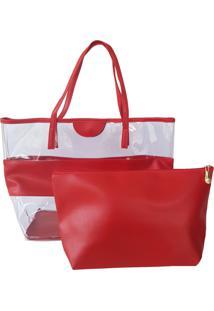 1bac6e301 ... Bolsa Bag Dreams De Praia Com Necessaire Impermeável Vermelha