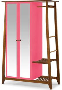 Armario Multiuso Stoka 2 Portas Pink Estrutura Amendoa 169Cm - 60975 - Sun House
