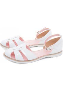 Sandália Abertinha Branca Mu Shoes