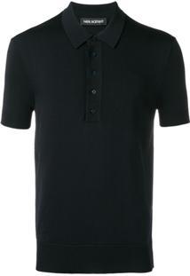Neil Barrett Camisa Polo Slim - Azul