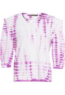 Blusa Feminina Tie Dye - Roxo