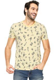 Camiseta Colcci Tropical Amarela