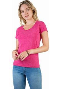 Blusa Básica Pemium Feminina - Feminino-Pink