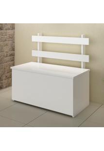 Baú Multiuso Com Assento Cl01 Branco - Fellicci