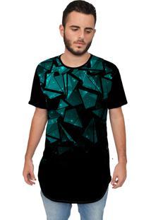 Camiseta Longline Ramavi Pedras Preta