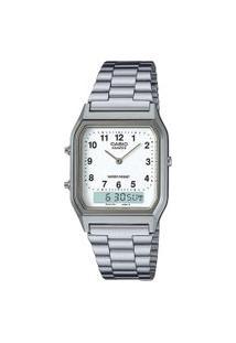 Relógio Analógico Casio Unissex - Aq230A7Bmqu Prateado