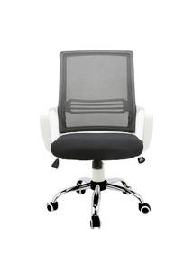 Cadeira Office Multilaser Unique, 120Kg, Base Giratória Cromada, Preto E Branco - Ga210