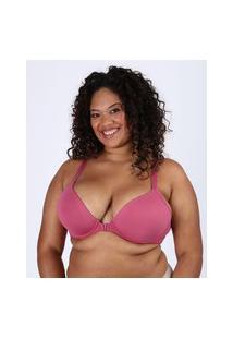 Sutiã Plus Size Love Secret Em Modal Triângulo Nadador Com Bojo Rosa Escuro