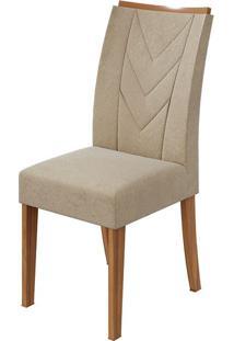 Cadeira Atacama Veludo Naturale Creme Rovere Naturale
