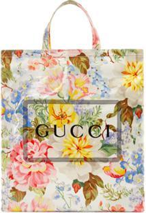 Gucci Bolsa Tote Medium Gucci Floral - Branco