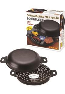 Churrasqueira 30Cm Black Com Caixa Alumínio Fortaleza