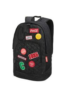Mochila Escolar Coca Cola Patches Jeans