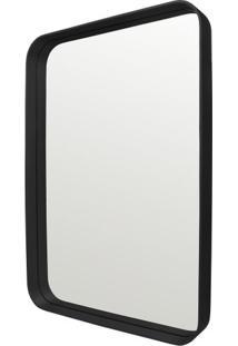 Espelho Manaus Retangular Prata Borda Preta 55X80 - 62673 - Sun House