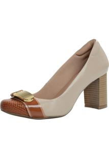 Scarpin Laura Prado Confort Marfim