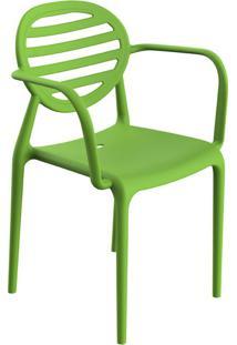 Cadeira Stripe Com Braço Greenery