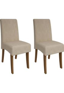 Cadeira Cimol Beatriz Savana Suede Bege 2 Cadeiras