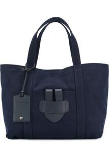 Tila March Bolsa Tote Grande 'Simple' - Azul