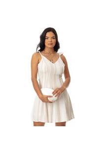 Vestido Clara Arruda Linho Costa Fivela 50661 - 36 - Cor Única Multicolorido