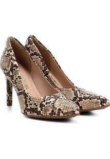 Scarpin Dakota Animal Print Snake - Feminino-Cobra