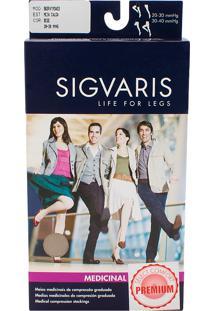 Meia Calça Sigvaris Select Comfort Premium 20-30 Mmhg M (Tamanho Médio) Longa, Cor Natural, Ponteira Aberta