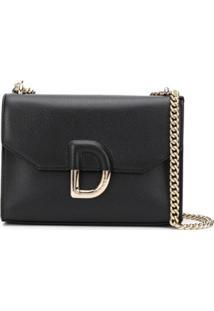 Dkny D Plaque Shoulder Bag - Preto