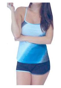 Short Doll Costas Nadador Chapiscado Dressy (E11181) 100% Algodão
