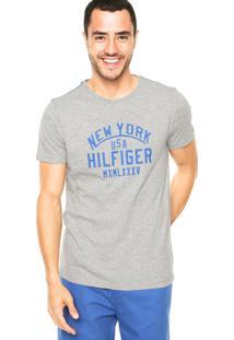 Camiseta Tommy Hilfiger Usa Cinza