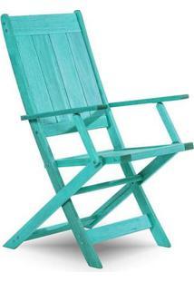 Cadeira Dobrável Com Braço Acqualung Azul Mão E Formão