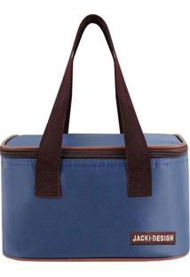 Bolsa Térmica Lisa- Azul Escuro & Bordô- 13X21,5X13Cjacki Design