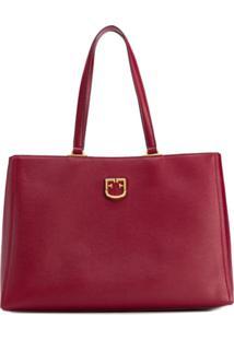 Furla Monogram Tote Bag - Vermelho