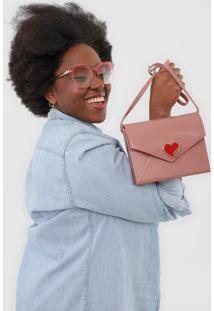 Bolsa Petite Jolie Coração Rosa - Kanui