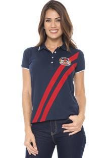 Camisa Polo Polo Wear Bordada Azul-Marinho