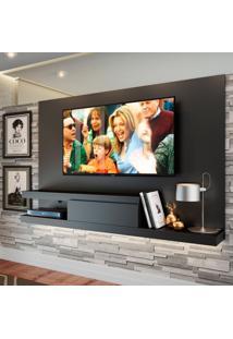 Painel Para Tv Até 60 Polegadas Nath Preto 200 Cm