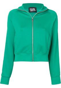 Karl Lagerfeld Jaqueta Com Logo - Verde