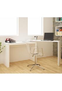Mesa Para Computador Escrivaninha Bc 31 Branco - Brv Móveis