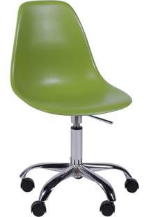 Cadeira Eames Dkr- Verde & Prateada- 93X47X41Cm-Or Design