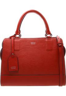 Bolsa Em Couro Com Bag Charm- Vermelhaarezzo & Co.