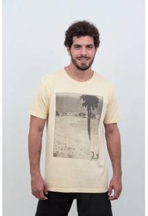 Camiseta Laundry Panorâmico V19 Masculina - Masculino-Amarelo