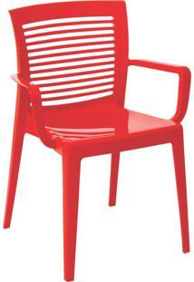 Cadeira Victoria Vazada Vermelha