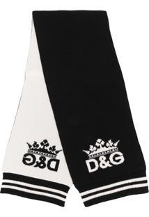 Dolce & Gabbana Cachecol Com Estampa De Logo - Preto