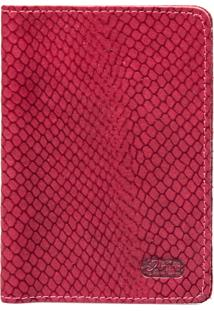 Carteira Artlux Porta Documento Vermelho