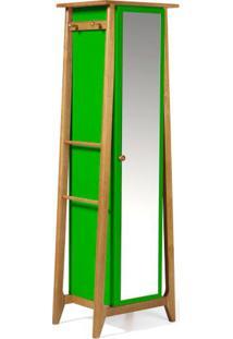 Armario Multiuso Stoka Cor Amendoa Com Verde - 31603 - Sun House