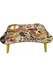 Bandeja Para Refeições 55 Cm 0135 Phorman - Amarelo/Vintage