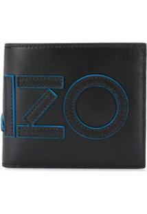 Kenzo Carteira Com Aplicação De Logo - Preto