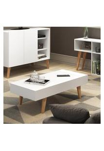 Mesa De Centro C/ Tampo Basculante Be Mobiliário Leaves Branco Fosco