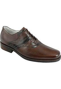 Sapato Social Masculino Oxford Sandro Moscoloni Newton Marrom